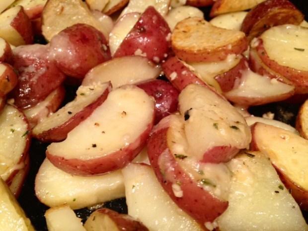 Parmesan Garlic Roasted Potatoes finished