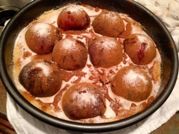 plum torte ready to bake