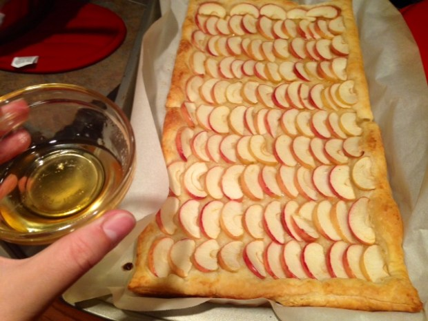 honey apple tart honey