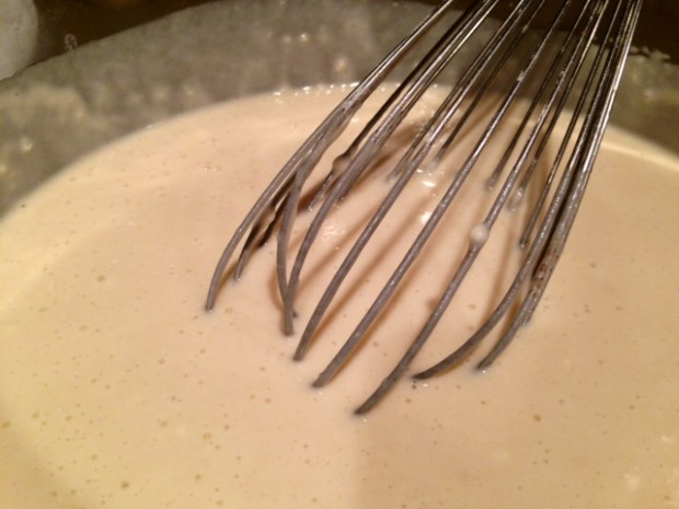 overnight raised yeast waffles batter