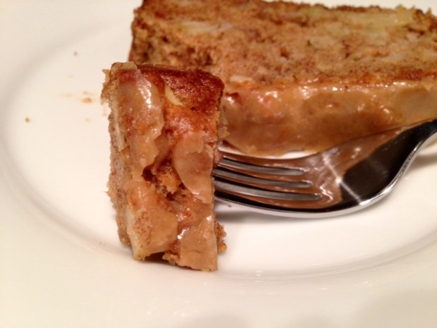 Caramel Glazed Apple Bread slice