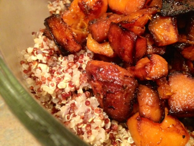 Quinoa Salad with Butternut Squash & Citrus Honey Dressing assembled2