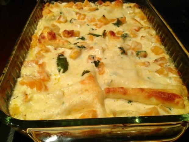 butternut squash & sage lasagna done