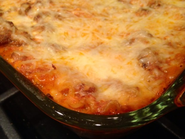 Mom's Lasagna finished closeup