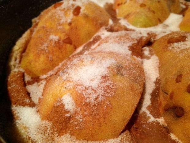 pear torte cinnamon sugar