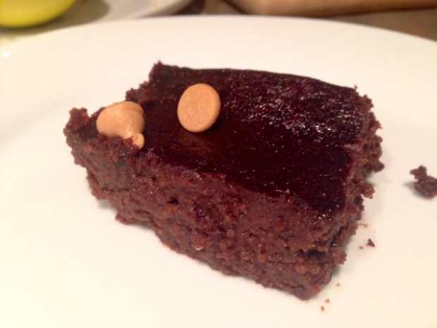 Black Bean Brownies with honey done