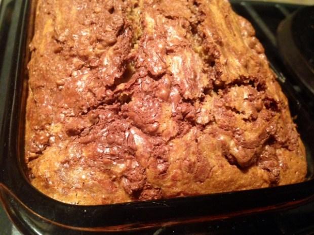 Chocolate Hazelnut Coffee Poundcake baked