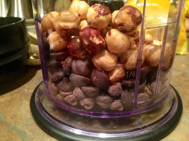 chocolate hazelnut coffee poundcake hazelnuts chocolate chips