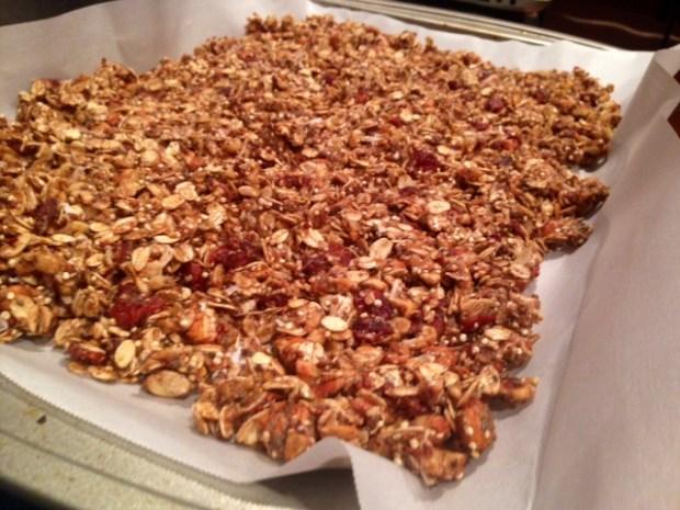 quinoa nut maple granola assembled