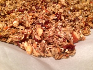 Quinoa Nut Maple Granola finished