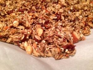 Quinoa Nut Maple Granola finished
