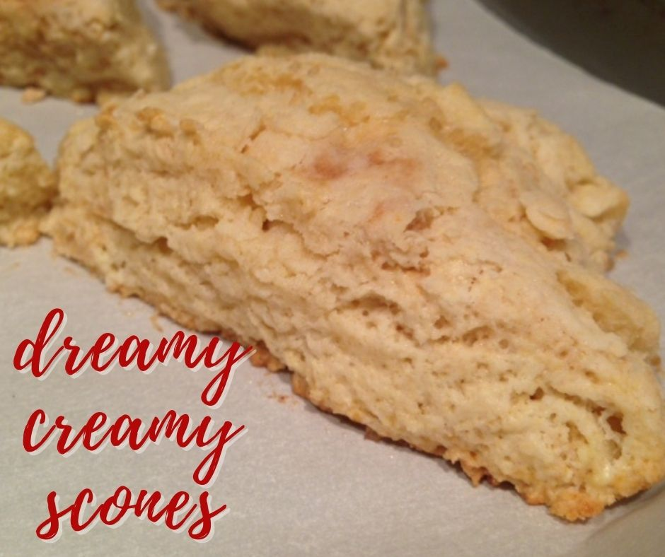The Best Cream Scone Recipe | If you want to take brunch to another level, these cream scones will blow your mind. Soft, fluffy, rich, & buttery, they're perfect fresh out of the oven or as leftovers! And they're super easy to make.  #scones #cream #brunch #breakfastrecipes