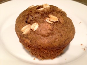 Oatmeal Flaxseed Chocolate Chip Muffin