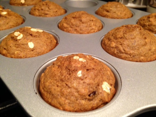 Oatmeal Flaxseed Chocolate Chip Muffins