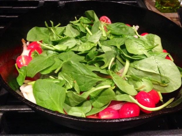 ricotta tomato & spinach frittata spinach