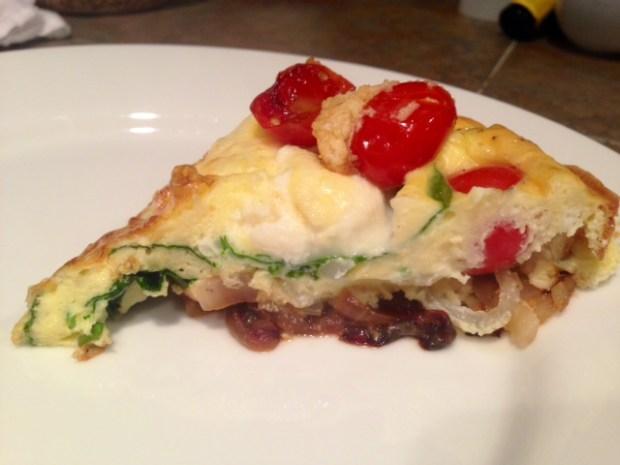 Ricotta, Tomato, & Spinach Frittata