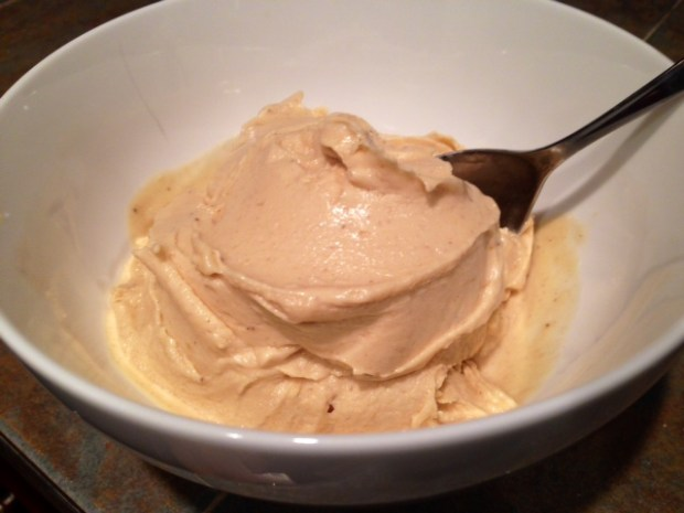 Peanut Butter Banana Ice Cream done