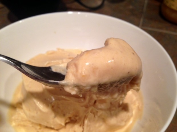 Peanut Butter Banana Ice Cream spoon