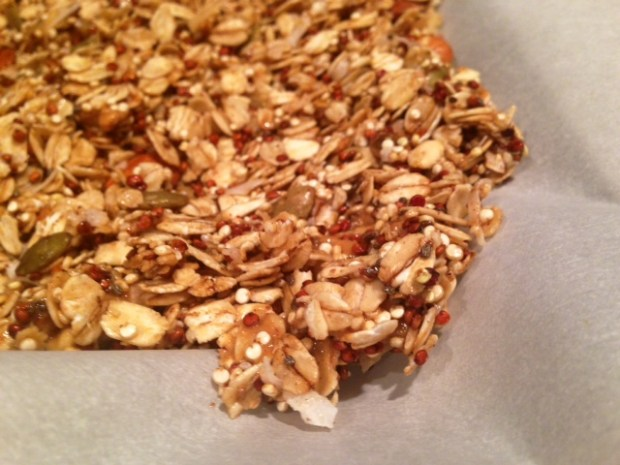 Peanut Butter Quinoa Granola finished