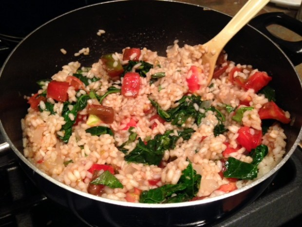 heirloom tomato risotto kale