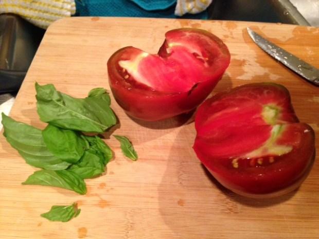 heirloom tomato risotto tomatoes & basil