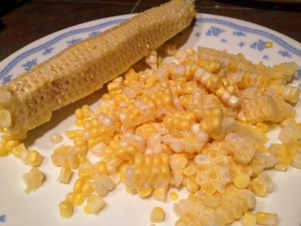 pasta with fresh sweet corn pesto corn sliced cob