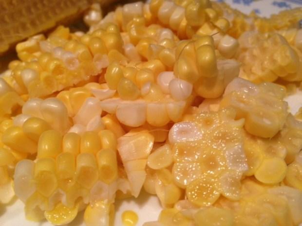 pasta with fresh sweet corn pesto corn sliced