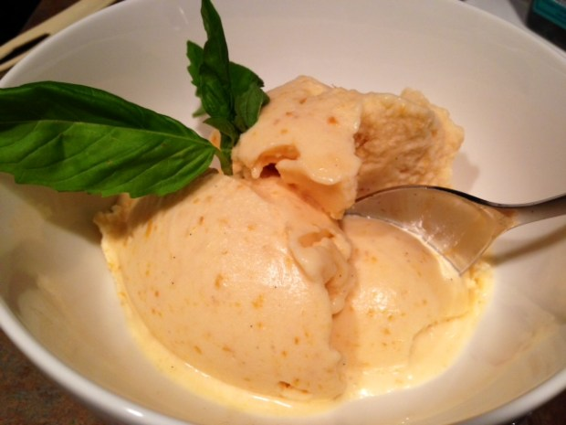 Roasted Apricot Ice Cream done