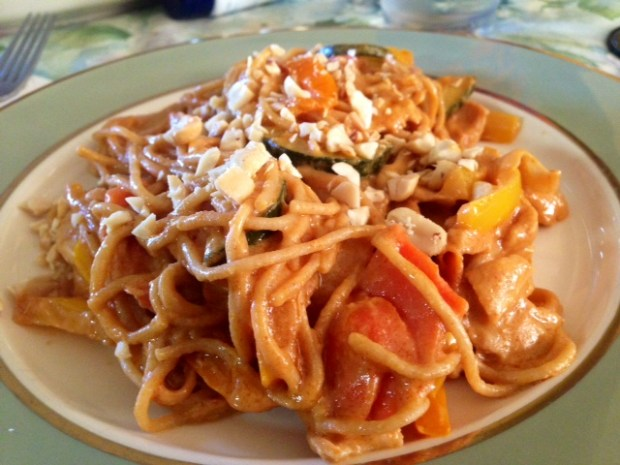 Thai Peanut Noodles with Chicken and Veggies