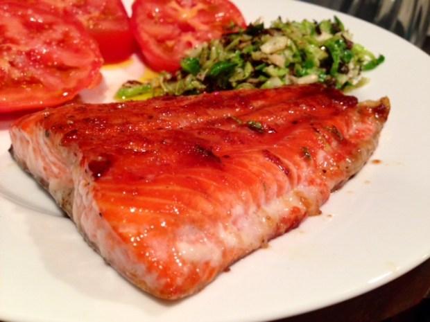 Pan Caramelized Salmon