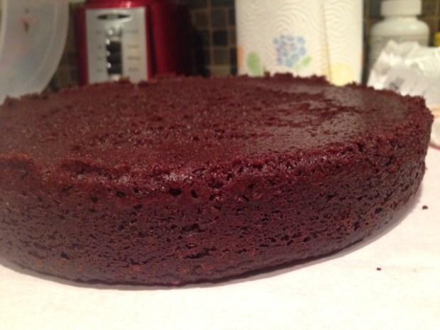 gluten-free chocolate quinoa cake cooling closeup