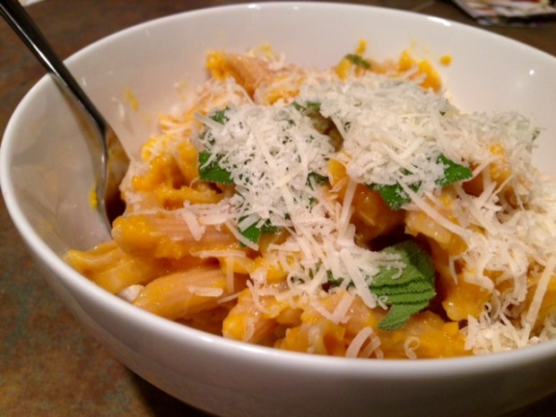 Butternut Squash Leek & Parmesan Pasta finished