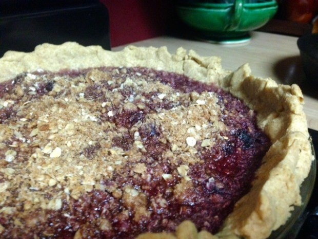 Bing Cherry Pie with Streusel done