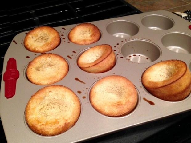 churro popovers baked