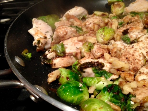 balsamic chicken & brussels sprouts balsamic walnuts