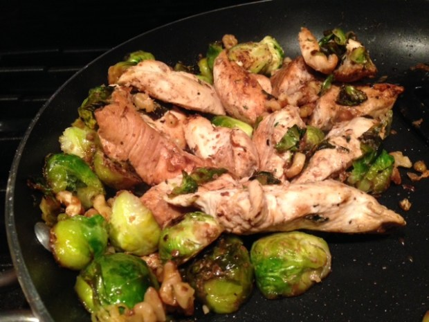 Balsamic Chicken & Brussels Sprouts done