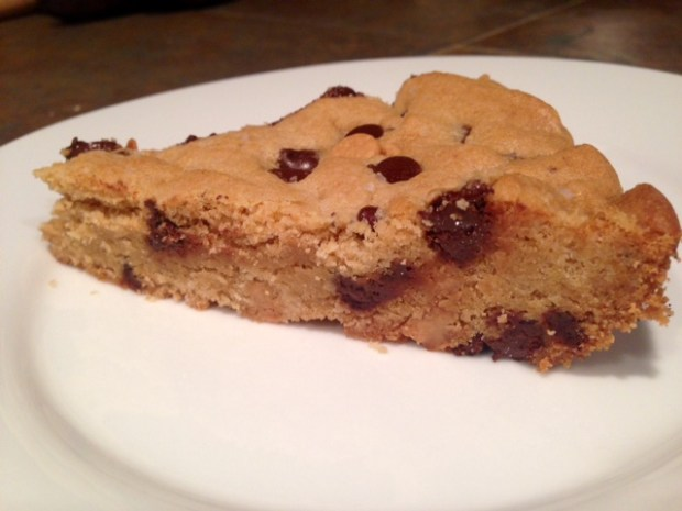 Giant Chocolate Peanut Butter Chip Skillet Cookie done