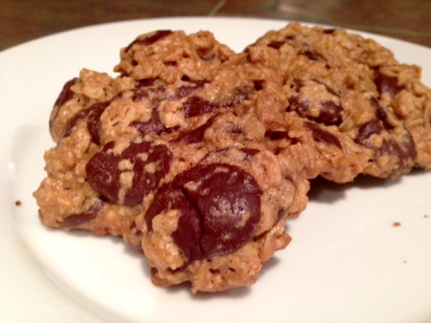 Maple Peanut Butter Oatmeal Chocolate Chip Cookies finished