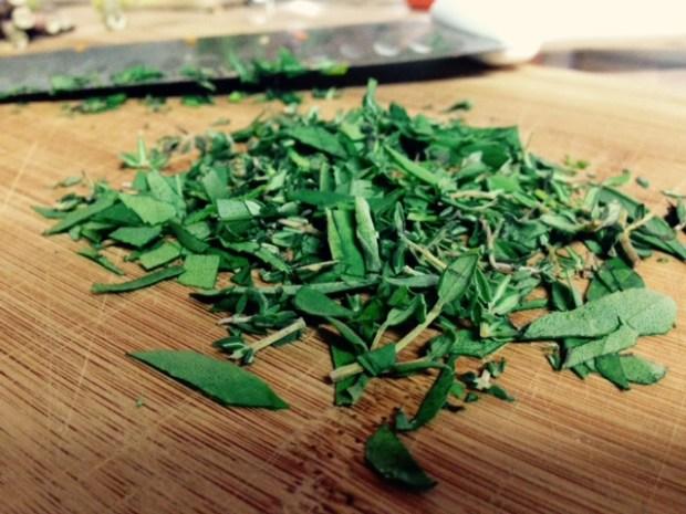 risotto primavera minced herbs