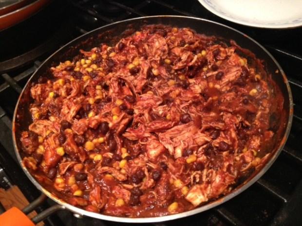 chicken nachos beans corn seasoning combined