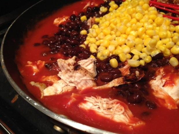 chicken nachos beans corn seasoning