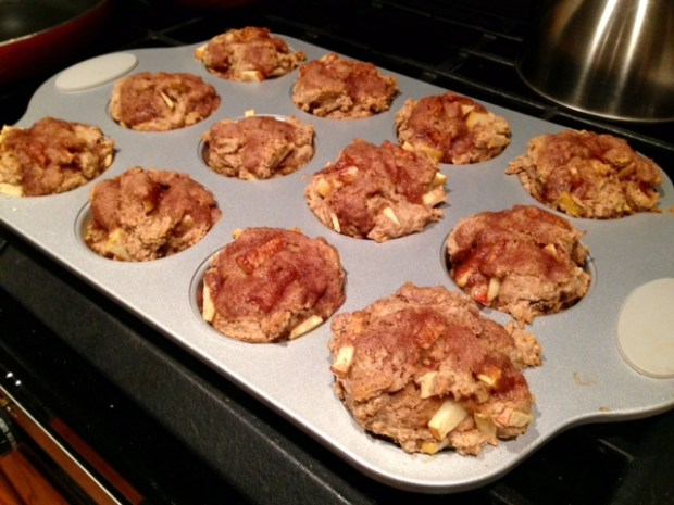 healthy apple cinnamon muffins baked