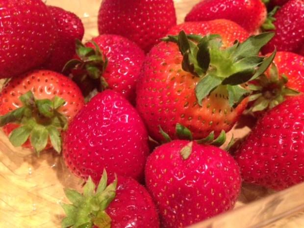strawberry chia jam strawberries