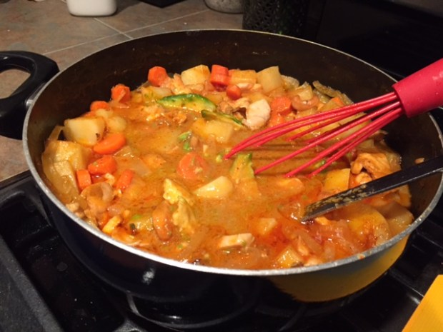 Massaman Curry with Chicken cooked