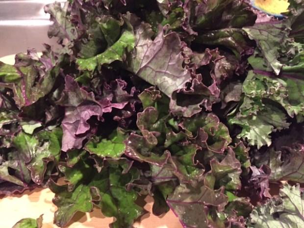 One Pot Kale & Qunioa Pilaf kale closeup
