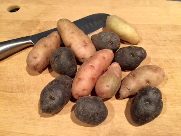 roasted carrots & potatoes with turmeric fingerling potatoes