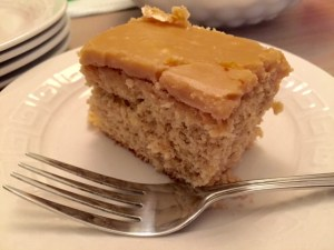 Banana Cake with Caramel Frosting