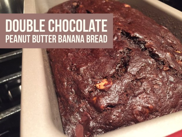 Double Chocolate Peanut Butter Chip Banana Bread