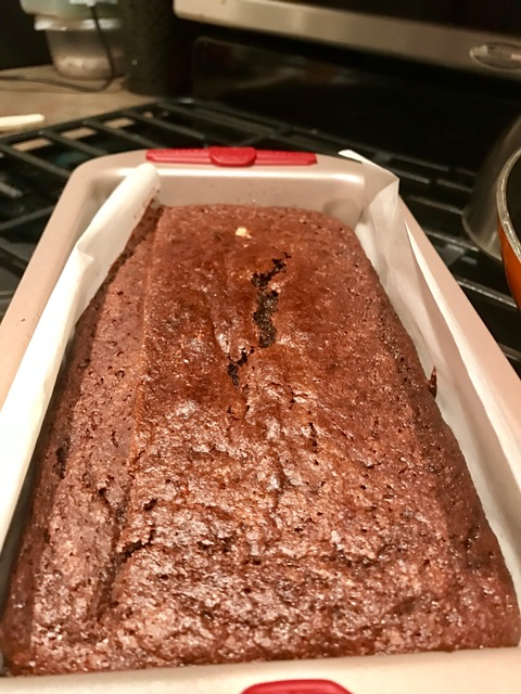 Chocolate, cinnamon, & almond loaf cake