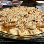 Bourbon Pear Crumble Pie